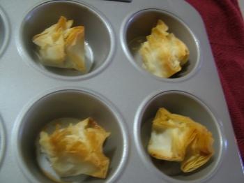 Baklava baked golden...