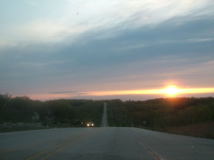 Winding roads to Ruthie d`s ...with the view of a beautiful sunset...