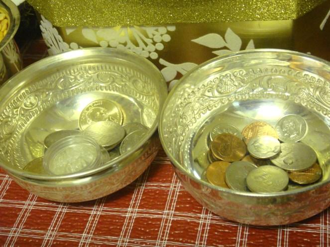Coins symbolising prosperity.