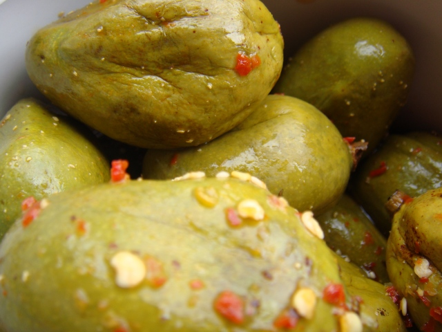 Vadu Maanga pickled and ready to eat...