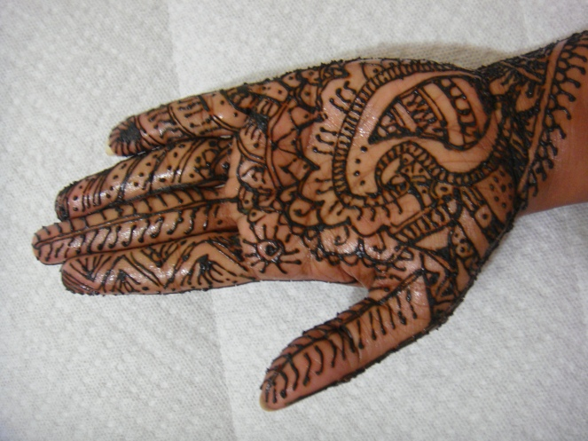 My first Mehndi Application.