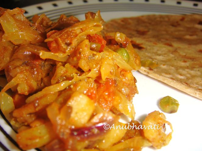 Masala Cabbage Curry