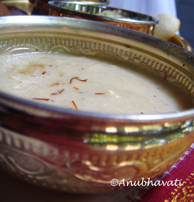 Coconut & Milk Rice Payasam.