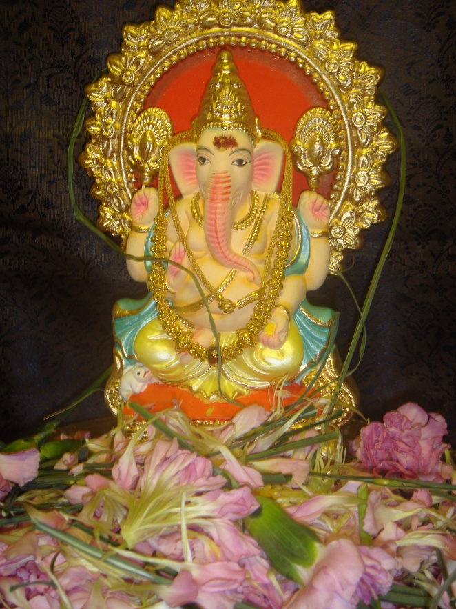 Lord Ganesha after the Pooja.