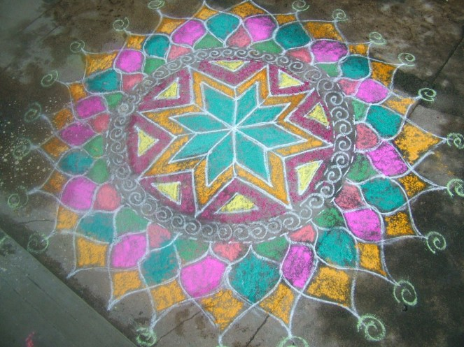 Lovely colourful rangolis